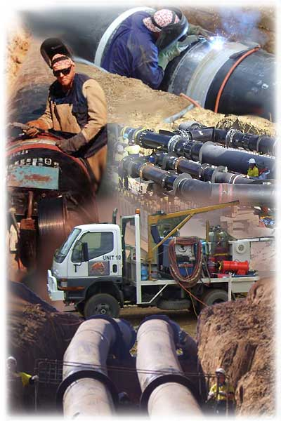 Boilermakers Australia specializing in Gas Water Pipe Construction - Contact Ken Hocking  Boilermakers - welding Australia together